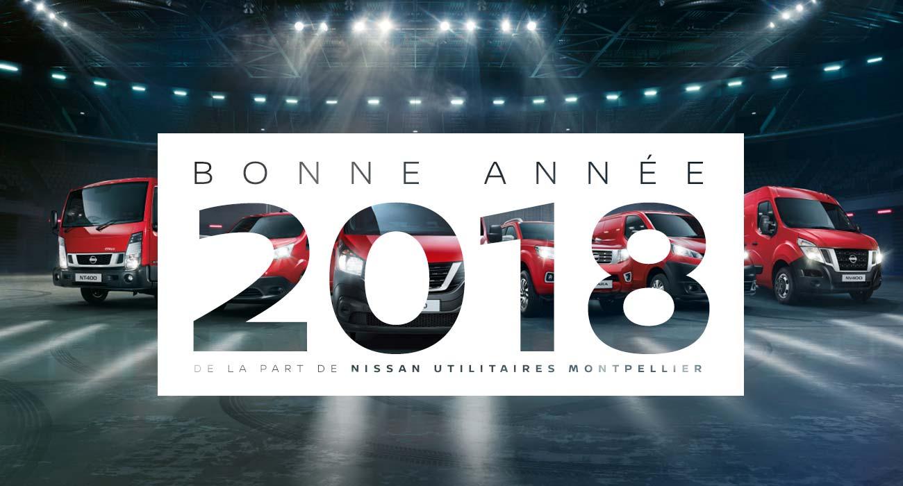 Nissan Utilitaires Montpellier vous souhaite une très belle année 2018