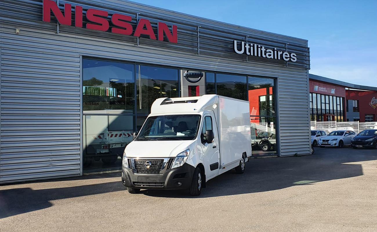 Un NISSAN NV400 au service des livraisons de la société Chez Paulette